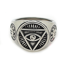 Top Quality Boy Charm Cool Unique Eyeball Ring for Men New Arrival Male Stainless Steel Totem Ring Jewelry Size8~13