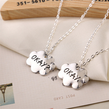 the fault in our stars necklace OKAY jewelry vintage silver gold cloud friendship pendant for men women lover couple wholesale