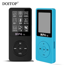 "DOITOP MP4 Player 80 Hours Music Playing 1.8"" Screen HIFI Sound MP4 Portable Audio Video Player with E-book Gift 8gb Memory card(China)"
