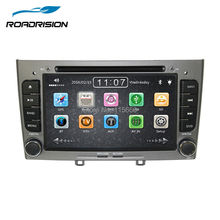 2din in dash Special Car DVD Stereo Navigation for Peugeot 408 & 308 Gray with GPS RDS IPOD 3G SWC Rearview Free 8GB Map card(China)