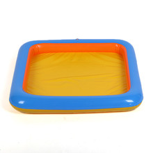 1pc Inflatable Sand Tray Sand Plastic Sand box Kinetic Play Child Kids Indoor Play beach Sand Molding Clay Color Mud Toys JK1563