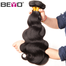 Beyo Malaysian Body Wave Hair Bundles 10-28 Inch 100% Human Hair Bundles Can Be Dyed 1 PCS Non-Remy Hair Weave Free Shipping(China)