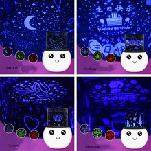 Cute Snowman Charging USB LED Projector Lighting Lamp Romantic Sky Beddroom Home Decoration Kid's Birthday Gift Night Light P20(China)
