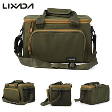 Portable Multifunctional Canvas Fishing Shoulder Bag Pack Fishing Tackle Bag Fishing Lure Reel Bag Pouch Case
