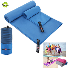 2 PCS/SET Microfiber Travel Towel Soft Skin Quick Dry Super Absorbent Perfect Beach Towel for GYM Swimming Yoga Travel Organizer(China)