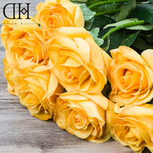 DH PU Real Touch Rose For wedding decoration home artificial Flowers decoration accessories marriage fake flower ornament