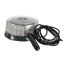 NEW 16W 32LED Magnetic Round Car Roof Lamp Emergency Warn Strobe Flash Light Amber Traffic Light Roadway Safety(China)