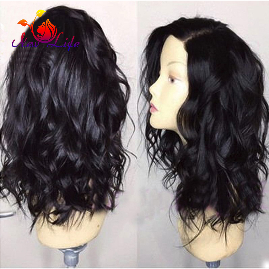 Full Head New Wavy Synthetic Lace Front Wig With Natural Hairline Natural Looking Wave Wigs Heat Reesistant Synthetic Wigs<br><br>Aliexpress