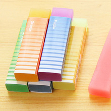 Fantastic Cute Kawaii Colored Long Strip Rubber Eraser Creative Jelly Eraser For Kids Gift Korean Stationery Free Shipping