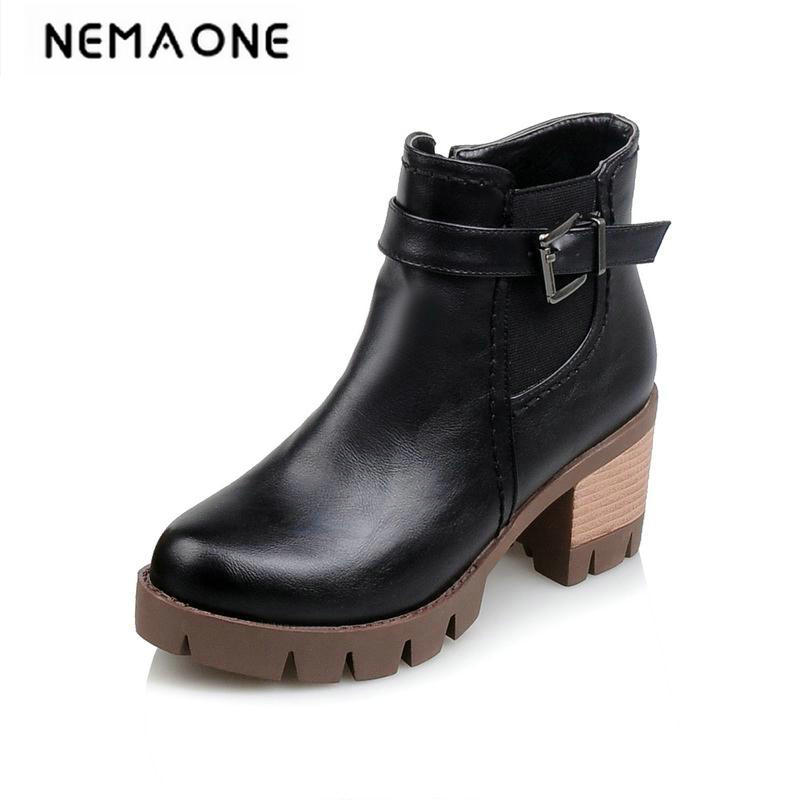 New winter boots with fur women punk boots platform shoes woman high heels ladies motorcycle boots women ankle boots <br>