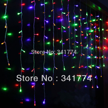 2*1m LED Curtain String Lights New Year Christmas Garland Chandelier Lights Garden Wedding Party Outdoor Luminaria Decorartion(China)