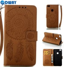 Wallet Case Cover for Huawei P8 Lite 2017 / Honor 8 Lite Flip Book Phone Case W/ Carry Strap PU Leather Dream Catcher