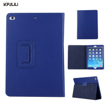 Premium PU Leather Folded Tablet Case for iPad 9.7 New 2017 Smart Cover for iPad Air 1 2 Ultra Slim Standing Wake/Sleep Cover