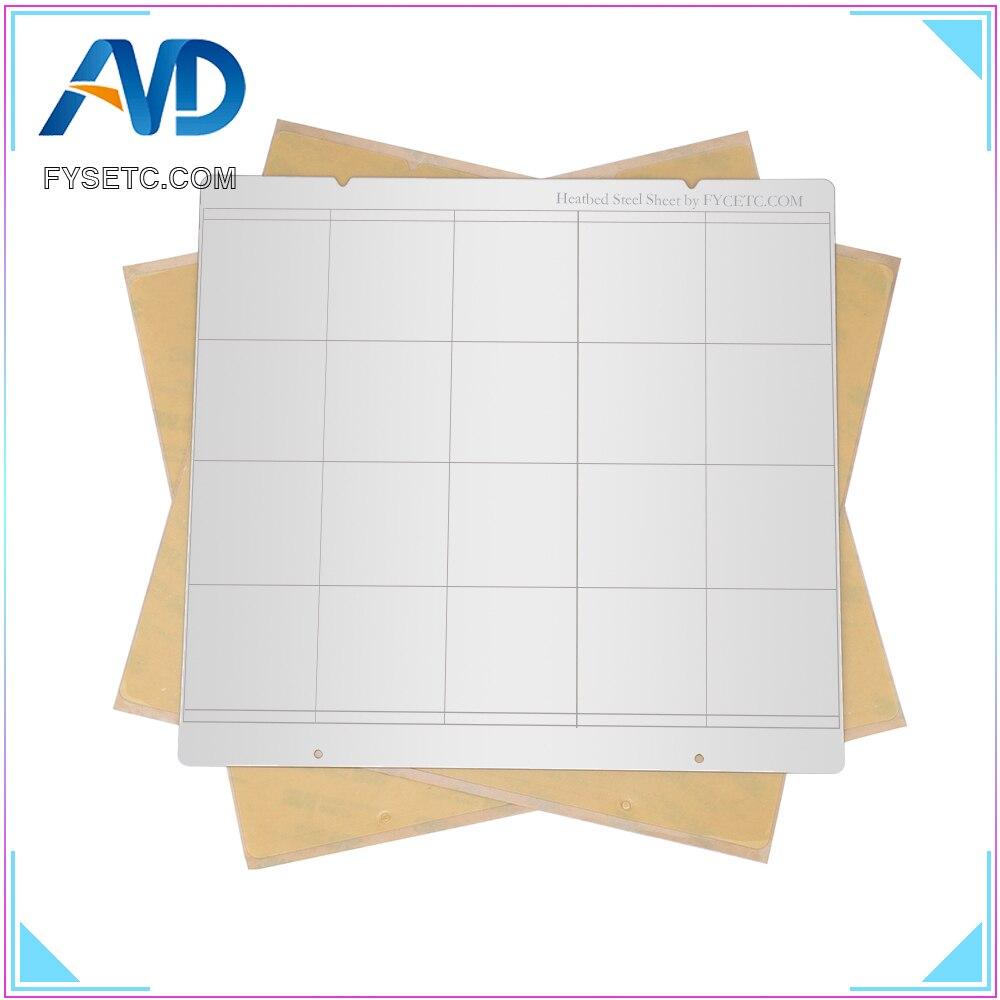 MK52 Printing Buildplate 220x220mm Spring Steel Sheet Heat Bed Platform