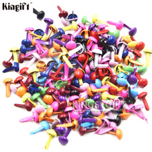 Mixed Color Metal Round Mini Brads 4.5mm Scrapbook Brads, Scrapbooking Embellishment(China)