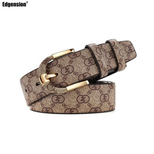 Edgension Classic Plaid Pattern Genuine Leather Wide Belt Women Men New In Luxury Brand Name Designer Fashion Accessories
