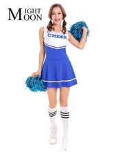 MOONIGHT Cheerleading Cheerleader Costume Aerobics Clothing Uniforms for Performances Halloween Fancy Dress(China)
