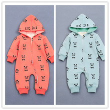 Infant clothes baby one piece romper thickening double layer baby ROMPERS INS HOT PANDA PATTERN BABY BOY CLOTHES BABY GIRL CLOTH