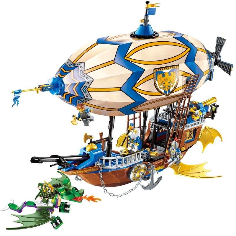 ENLIGHTEN The War Of Glory Castle Knights Hot Air Balloon Spaceship Building Blocks Set Bricks Model Kids Toys Compatible Legoe<br>