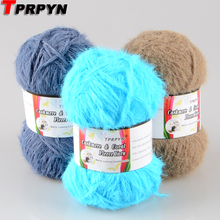 TPRPYN 1Pc=50g Fancy Wool Cashmere Yarn for Knitting Sweater Scarf Soft Filament Hand Knitting Cashmere Blended Yarn(China)