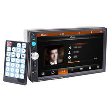 "7023B 2 DIN 7"" Touch Screen Digital Vedio Player TFT 1080P Car Audio Radio MP5 Player Support USB Bluetooth FM Rear View Camera(China)"