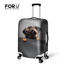 Cute Pug Dog Elastic Travel Luggage Protective Covers18/20/22/24/26/28/30 inch Dust Suitcase Cover Waterproof Travel Accessories