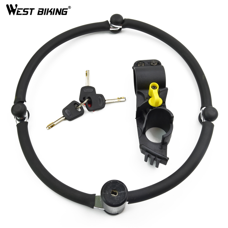 WEST BIKING Bicycle Lock Anti-hydraulic Foldable Security Steel Chain Locks Bike Accessories Mountain Road Cycling Bicycle Lock<br>