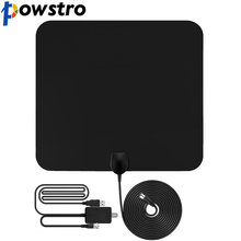 Flat HD TV Amplified Digital Indoor Antenna High Gain HDTV 50 Miles Range ATSC DVB ISDB with Detachable Signal Amplifier(China)