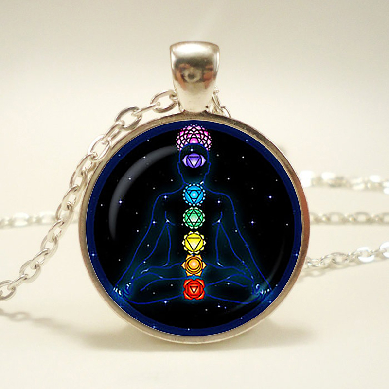 Chakra Symbols Pendant. Chakra Symbols Sign Necklace. Chakra Symbols Jewelry Magic Sign Zen, Birthday Gift(China)