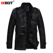 LKBEST 2017 New Winter Jacket Men Casual Mens Leather Jackets and Coats Pu Leather Suede Wool Liner motorcycle jacket Men (PY17)(China)