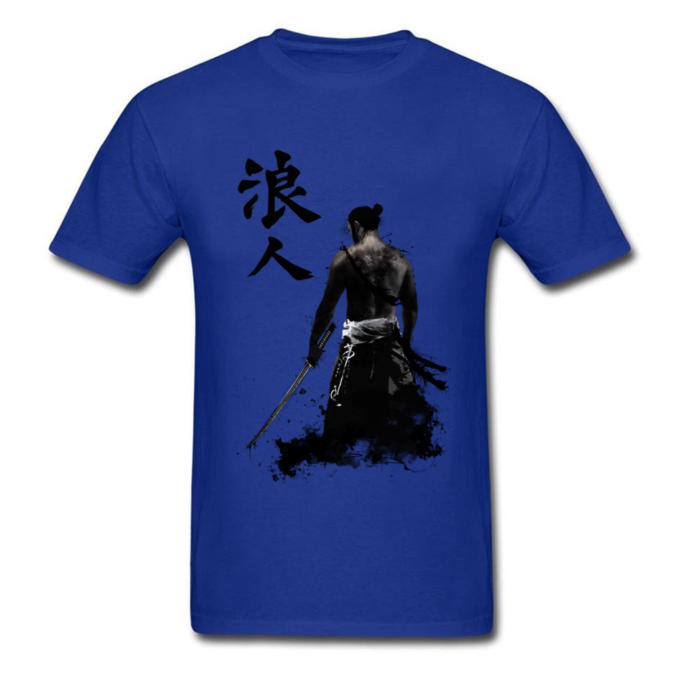 Ronin 3D Printed T-shirts for Men 100% Cotton Summer Tops T Shirt Custom Tee-Shirts Short Sleeve Prevalent Crew Neck Ronin blue