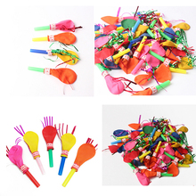 Whistle balloon 50pcs birthday party balloons with whistle balloons toys will be called balloon clown props Globos balony
