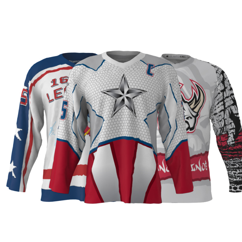 Custom Your Own Ice Hockey Jersey Newest Design USA Collage Polyester knitted Personality Hockey Top Shirts For Hockey Games(China (Mainland))