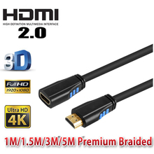 2160P HDMI 2.0 extender extension cable HDMI amplifier repeater cable HDMI 2.0 A male to A female 5M 3M 1.5M 1M 0.5M(China)