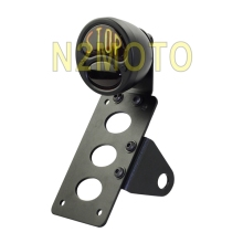 Black Tail Brake Light STOP License Plate Bracket Side Mount For harley Chopper Bobber(China)