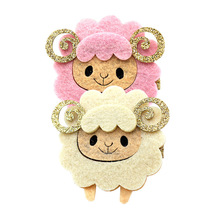 Multi Colors! Cute Sheep Hairpins Glitter Horn Cartoon Animal Hair Clips Girls Children Hair Barrettes for Kids Hair Accessories(China)