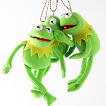 15cm Sesame Street Kermit Plush Keychains Doll Stuffed Animal Frog Keyrings Pendant Plush Doll Free Shipping