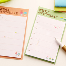 2pcs/lot Desk Weekly Daily Planner Cartoon Sticky Notes Stickers Post It Paper Korean Stationery To Do List Office Supplies