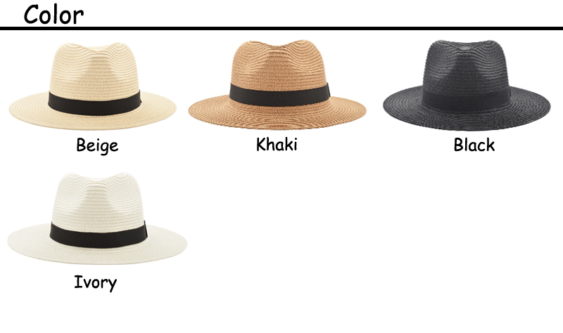4 colors panama hats