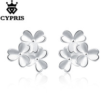 Daisy Flower plant Pattern hot latest model cool silver earrings for fashion girls women lady gift love romance chic wholesale(China)
