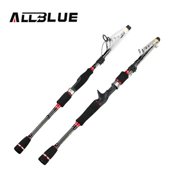 ALLBLUE RedWolf Carbon Fiber Telescopic Fishing Rod 1.95m 2.1M 2.4M 2.7M Spinning Casting Rod Saltwater Fishing Travel Rod