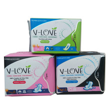 VLOVE Far-infrared Nano Silver and Anion Sanitary Napkin and Pantyliners 3Packs(48pcs)(China)