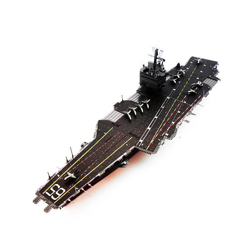 Colorized USS Enterprise CVN-65 model kit laser cutting 3D puzzle DIY metal Piececool model jigsaw gift for kids educational toy(China (Mainland))