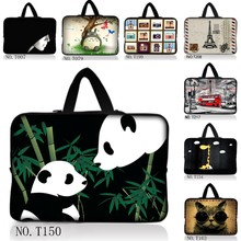 "10""  Lovely Panda Laptop Sleeve Bag Case + Hide Handle For 10.1"" Acer Aspire One/HP Mini 110 210 /Surface Pro RT 10.6"" Tablet"