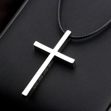 MeMolissa Punk Rock Little Silver Cross Pendant Necklace For Men Women 316L Stainless Steel Cool Necklaces & Pendants