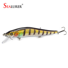 SEALURER 1PCS 14cm 23g Fishing Lure Minnow Hard Bait with 3 Fishing Hooks Fishing Tackle Lure 3D Eyes Crankbait Free Shipping