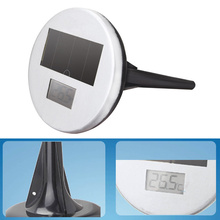 Gray Swimming Pond Pool Floating Solar Powered LED Instant Read Wireless Digital Thermometer Degrees Celsius(China)