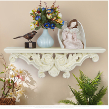 European Creative Resin Wall Shelf Stereo Home Wall Background Decoration Mural Crafts Wall Holder Hanging Shelf Rack Vase Ledge(China)