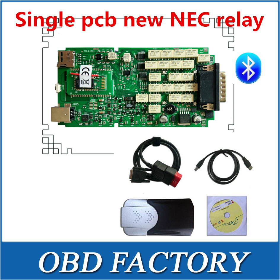 A+ quality single board NEC new relay 2015.3 with keygen new vci with bluetooth VD TCS pro plus cdp pro<br><br>Aliexpress