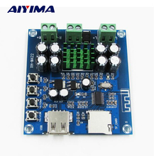 Buy Aiyima TPA3116D2 Digital Bluetooth Amplifiers Board DC12V-24V Integrated Bluetooth U disk TF Player Amp Boards Dual Channels for $11.88 in AliExpress store